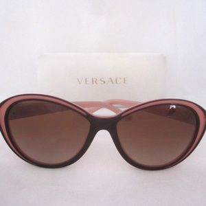 Versace 4203 Pink Cat Eye Outline Sunglases